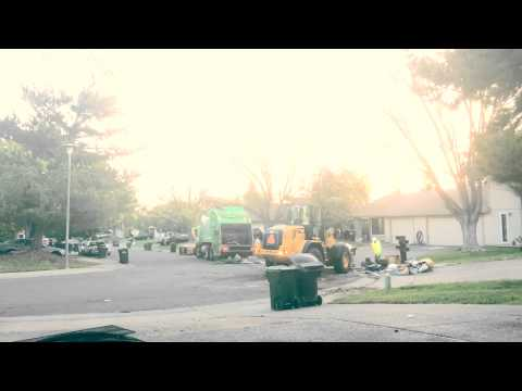 Scheduled Neighborhood cleanup day Sacramento County TimeLapse