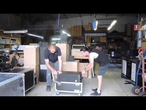 Acoustic Technologies - packing a line array for shipment