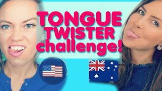 Tongue Twister Challenge - American vs. Australian English Accent