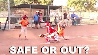 SAFE OR OUT AT HOME PLATE? Little League Baseball Tournament | Marlins vs Phillies