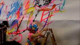 Shojono Tomo Live Painting Show at Tokyo Crazy Kawaii Paris 21.09.2013