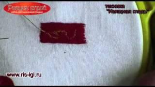 видео Рисование в вышивке лентами |