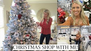 CHRISTMAS SHOP & DECORATE WITH ME | HOLIDAY SHOPPING AT BED BATH & BEYOND + HAUL | ERICA LEE