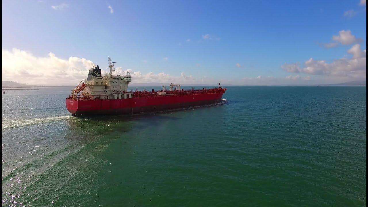 DJI Phantom 3 Advanced - STI ACTON Largest Ever Oil Tanker On Lough Foyle
