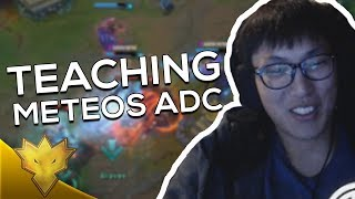 When Doublelift & Meteos ROLESWAP! - TEACHING METEOS TO ADC! - LoL Funny Stream Moments