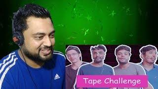 Indian Reacts to Ducky Bhai | INSANE BOTTLE FLIP TAPE CHALLENGE