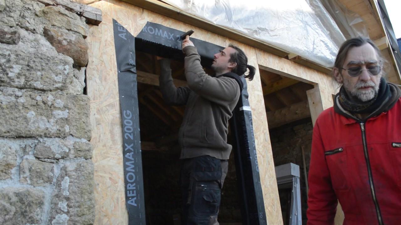 atelier d 39 artiste pisode 69 pose du pare pluie avant pose de menuiserie youtube. Black Bedroom Furniture Sets. Home Design Ideas