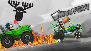 КАРТОШКИН ЧЕМПИОН выиграл все гонки в игре Hill Climb Racing 2 веселое видео про гонки на машинах