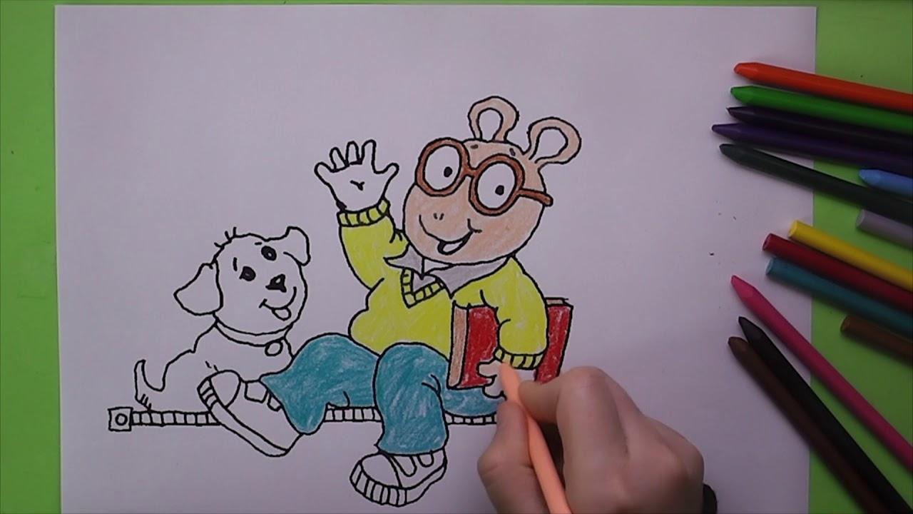 Arthur Boyama Arthur Nasıl Boyanır Coloring Arthur Youtube