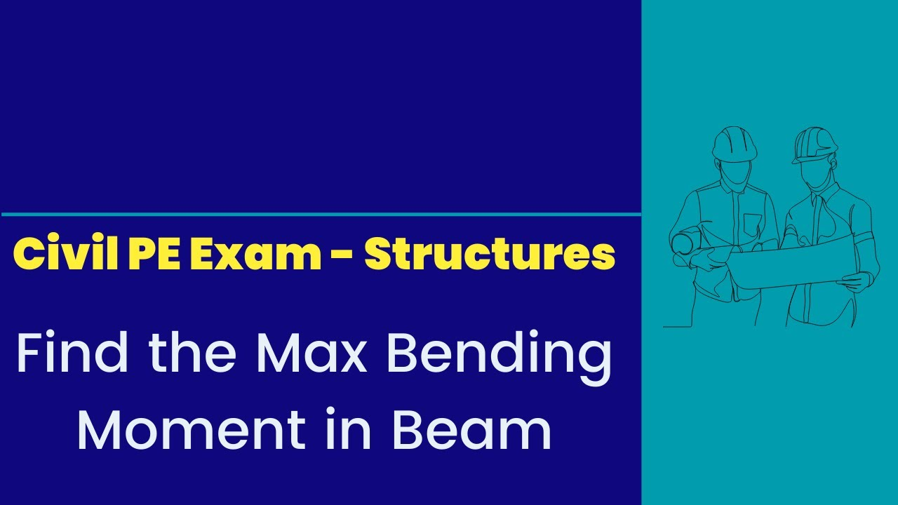 Structures Find The Max Bending Moment In Beam Youtube