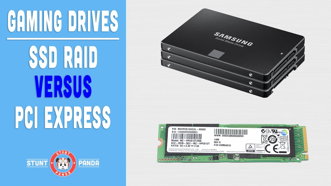 SSD RAID vs PCI Express - What's the fastest for gaming? - YouTube