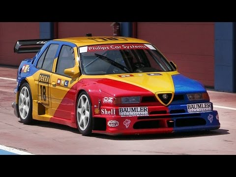 1994 Alfa Romeo 155 V6 Ti DTM Sound - Accelerations, Downshifts & Fly Bys