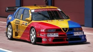 1994 Alfa Romeo 155 V6 Ti DTM Sound - Accelerations, Downshifts u0026 Fly Bys