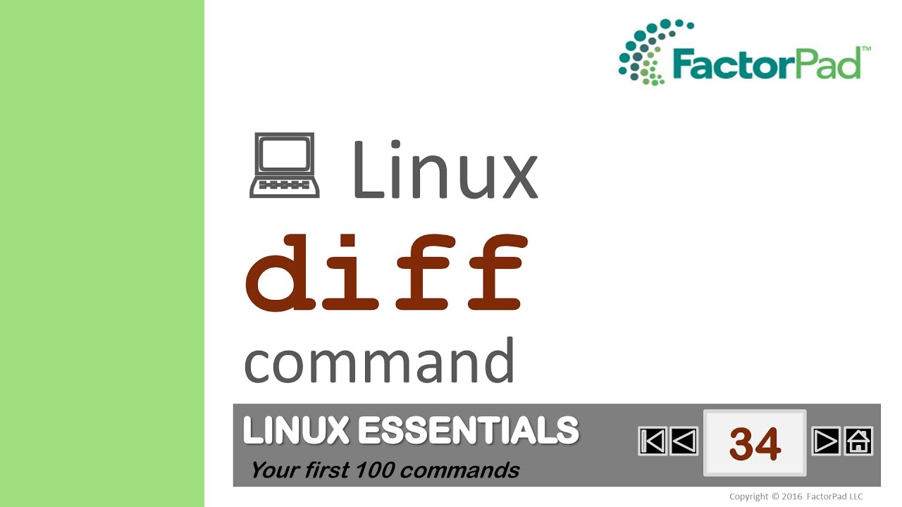Download Linux diff command summary with examples