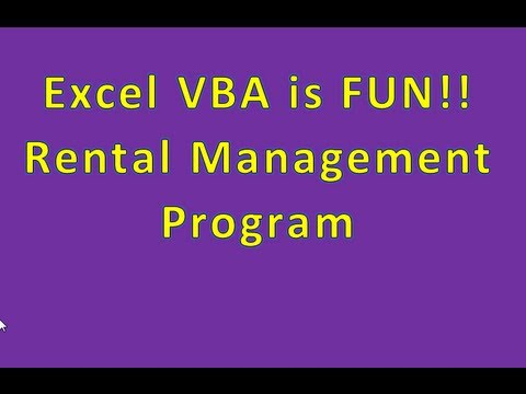 Example of Cool Programs YOU CAN WRITE - Rental Management Program