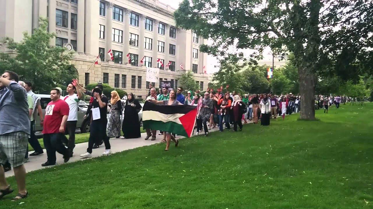 من ناشطي كندا: الحرية لغزة