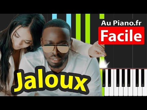 Dadju Jaloux Piano Cover Tuto FACILE - Instrumental (PAROLES LYRICS)