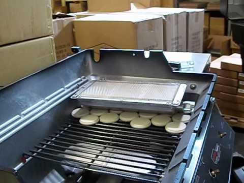 Removing infrared burner & orifice from MHP hybrid & infrared grills