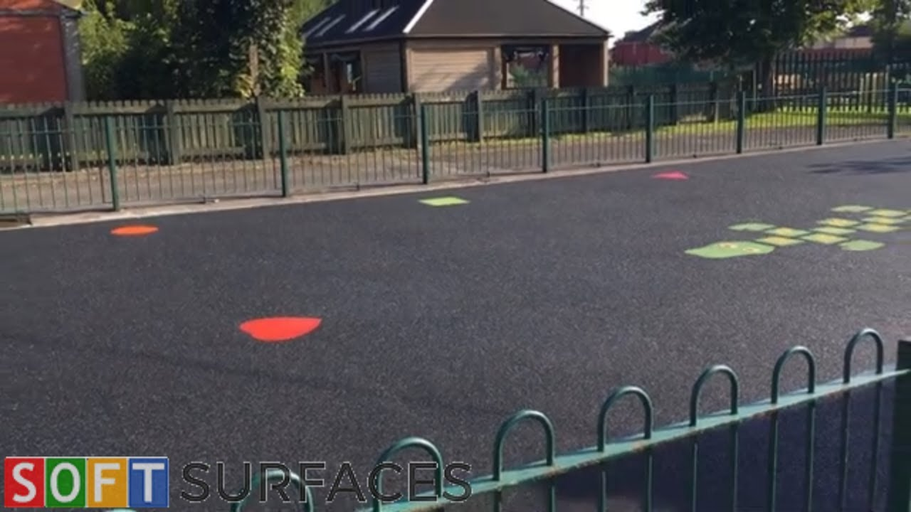 Download Black Wetpour Playground with Graphics in Canterbury, Kent   Wet Pour Installation