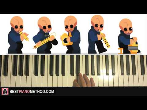 HOW TO PLAY - CANTINA BAND from Star Wars (Piano Tutorial Lesson)