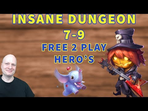 Insane Dungeon 7-9 | Castle Clash | Free 2 Play Heroes Strategy