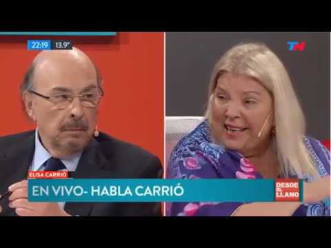 """Elisa Carrió y Mario Negri en """"DESDE EL LLANO"""" - 03/09/2018"""
