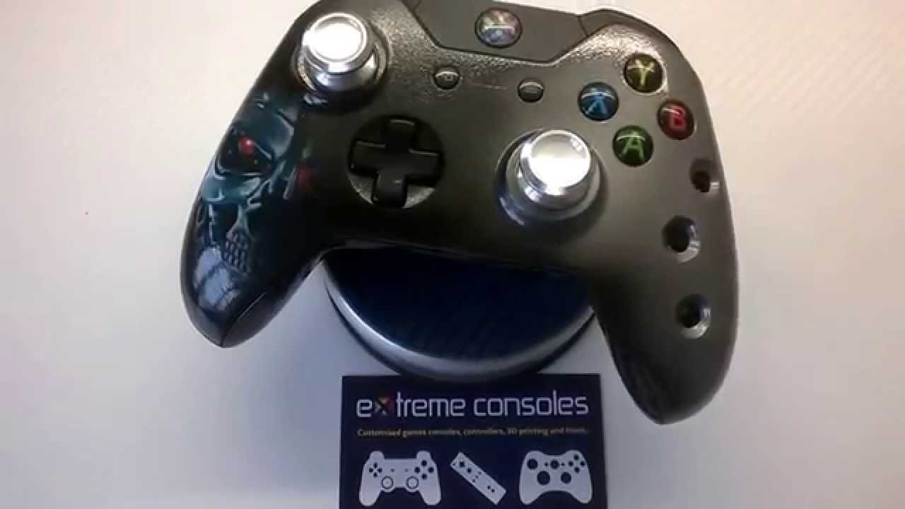 Terminator T800 themed Xbox One controller from Extreme Consoles