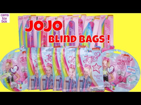 JoJo Siwa Blind Bags Opening Toys Fashion Tag Series 2 Bows Surprises Kids Fun