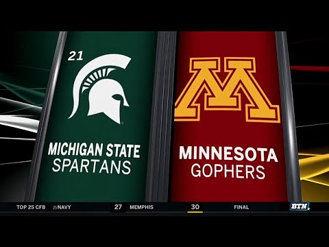 Michigan State at Minnesota - Football Highlights