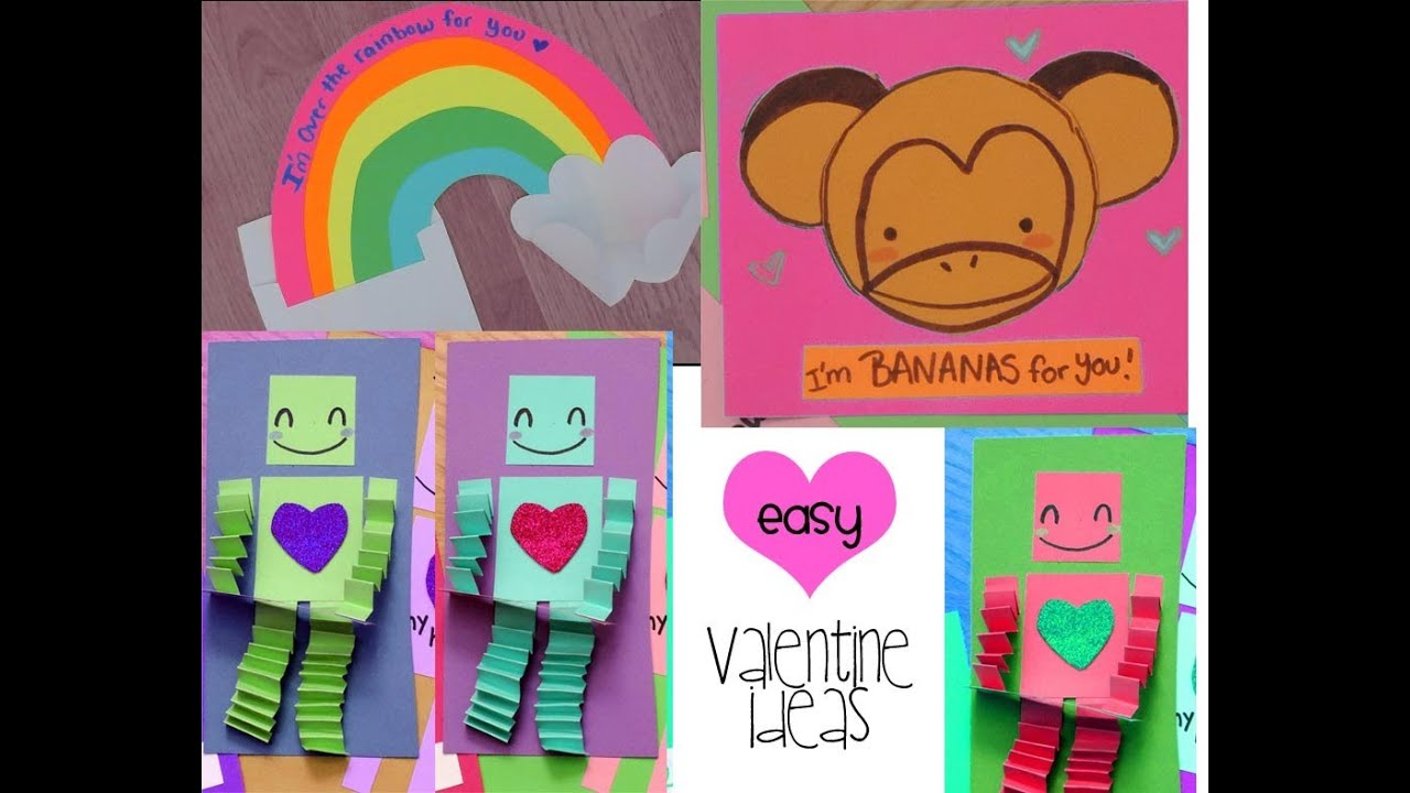 EASY CUTE Valentine Card Ideas 1 of 2 YouTube – Easy Valentine Cards for Kids
