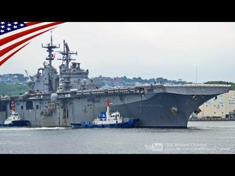 【もう一つの打撃群】第7遠征打撃群の旗艦ボノム・リシャールが佐世保を出港