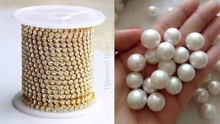 How To Make Designer Earrings At Home | DIY | Pearl Drop Earrings | Jewelry Making | uppunutihome