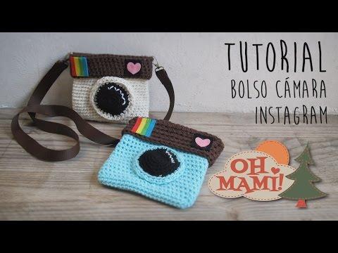 47f77e16c Bolso Cámara Instagram a crochet (Crochet Instagram Bag) - YouTube