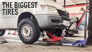 The Biggest Tires You Can Fit on a Sprinter Van (without lift)