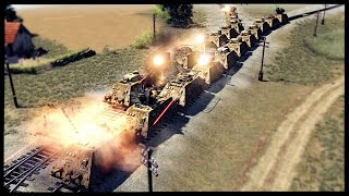 Super Heavy Armored Gun Trains - German Railroad Assault | Men of War Assault Squad 2 Mod Gameplay