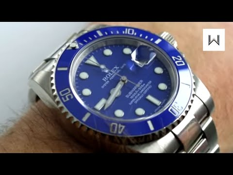 Rolex Smurf Submariner  Oyster Perpetual Submariner Date Ref 116619LB Watch Review