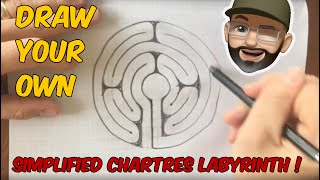 How to Draw a 5 Circuit Chartres style Medieval Labyrinth