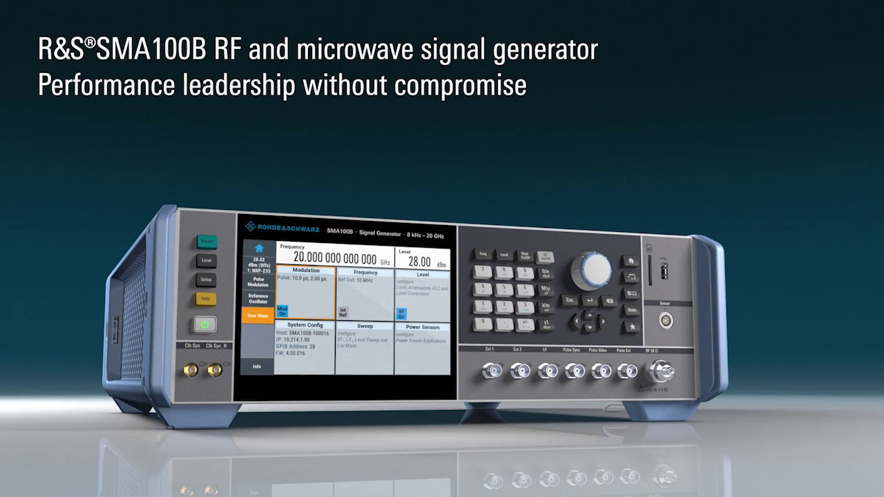 Microwave Rf Signal Generators : Rohde schwarz sma b rf microwave signal generator