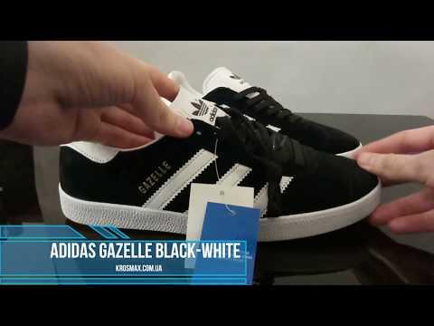 9f3c4af8 Живой видео обзор Adidas Gazelle Black White (реплика)
