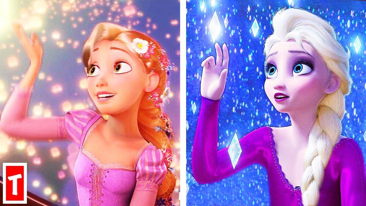 Frozen 2 Scenes That Copied Other Disney Princess Movies