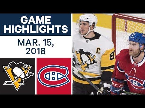 NHL Game Highlights | Penguins vs. Canadiens - Mar. 15, 2018