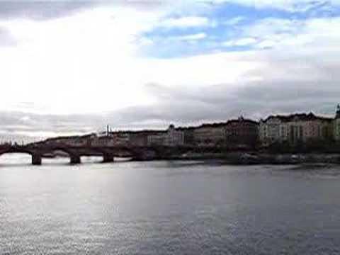Prague - Jiraskuv Bridge & Milunić and Gehry's Dancing House