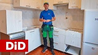 904. Mała kuchnia w bloku: montaż korpusów dolnych