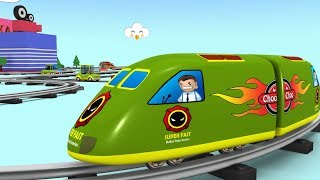 Trains for Kids - Choo Choo Kids - Toy Train Videos - Toy Factory Cartoon - kids train video -Trains