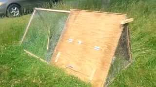 A-Frame Chicken Tractor Design - DIY $25 Chicken Coop / CHEAP & EASY!!!!