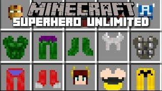 Minecraft SUPERHERO MOD / BECOME IRON MAN, HULK AND SPIDERMAN!! Minecraft