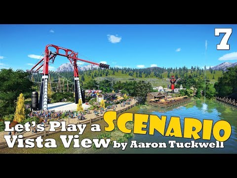 Planet Coaster: Let's Play a scenario - Vista View - Ep. 7 - Let's do some detailing - eating area