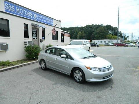 2012 Honda Civic Hybrid 4dr Sdn L4 CVT Clean carfax Excellent Condition 69k Miles (MARIETTA ,...