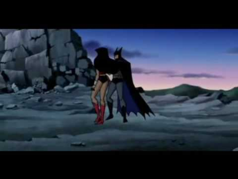 Batman and Wonder Woman Kiss from a Rose Seal