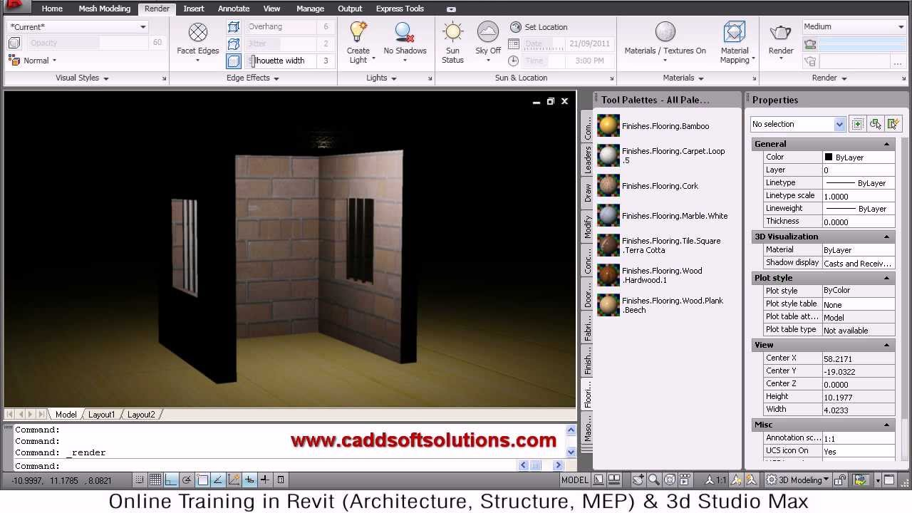 Superb AutoCAD 3D Lighting Tutorial